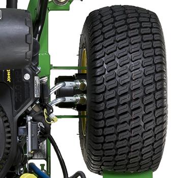 Moteur de roue et tubes d'huile en acier