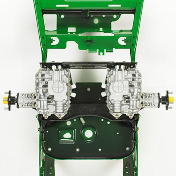 Illustration de la pompe monobloc et entraînement moteur-roues