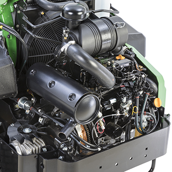 Accès aux points d'entretien du moteur