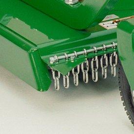 Déflecteur à chaîne offert de série pour davantage de sécurité