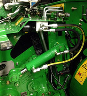Amortissement hydraulique pour rouleau d'alimentation.