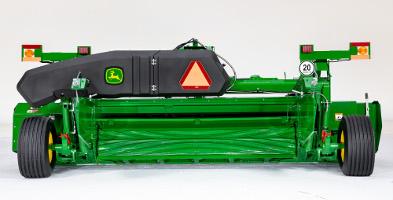 Position du dispositif de formation d'andains larges du modèleC500