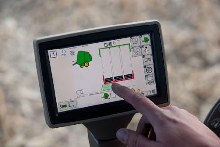 Écran d'afficheur d'automatisation du tracteur/presse