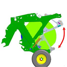 Le système de libération rapideJohnDeere de 230kg (507lb) se déplace rapidement