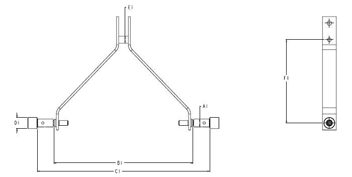 Dimensions de l'instrument avec l'attelage iMatch™