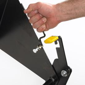 Levage manuel pour verrouillage en position de planage