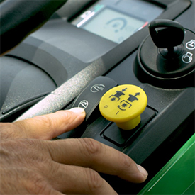 Contacteur électrique de MulchControl™ avec bouton de commandet