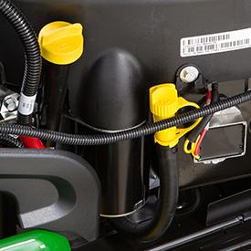 Tube de remplissage/vérification du niveau d'huile moteur et durite de vidange d'huile