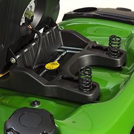 Suspension de siège avec ressorts en position arrière