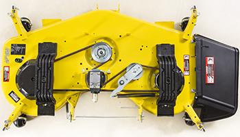 Vue du dessus du corps de tondeuse grand débit de 152cm (60po)