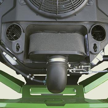 Couvercle de filtre à air/orifice de nettoyage déposé