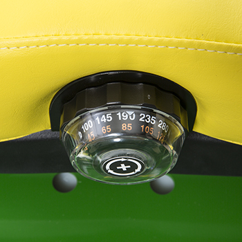 Bouton de réglage de la suspension du siège
