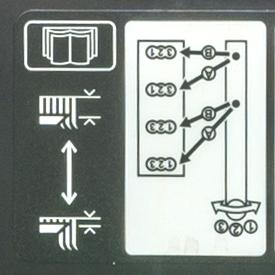Position des leviers de commande de mouvement