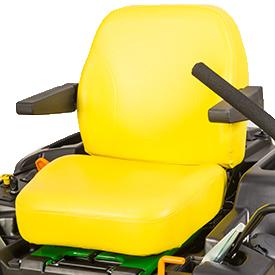 L'interrupteur de sécurité est situé sous le siège (modèle Z540R illustré)