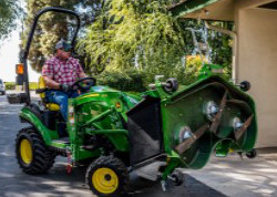 Use Load-N-Go to move and service the mower deck with the tractor loader