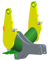 Bâti de montage pour tracteurs de la série5E à 4cylindres (modèles conformes à la catégorie intérimaire4, 5085E, 5100E)