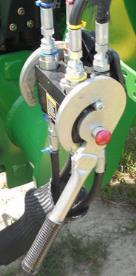 Raccord hydraulique en un seul point sur un tracteur de la série5E