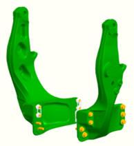 Bâti de montage pour tracteurs des séries6M (petit châssis), 6R (petit châssis), 6030, 6030 Premium, 6020, 6010 et 6000