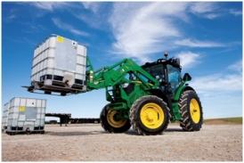 Tracteur 6125R et chargeur H340 sans mise de niveau automatique avec l'option de retour à la position initiale