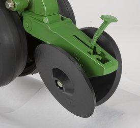 Système de couvre-sillons à roues en fonte