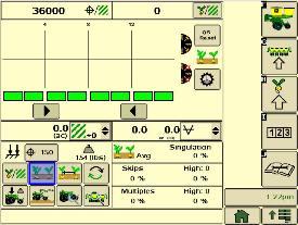 Page d'exécution du semoir de précision à séparation des semences SeedStarXP