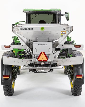Le modèleDS20 permet d'obtenir une largeur d'épandage maximale de 32m (105pi)
