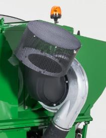 Orifice d'admission d'air du ventilateur avec crépine