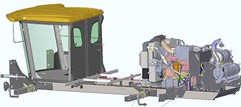 Emplacement du moteur (montré pour le moteur FT4)