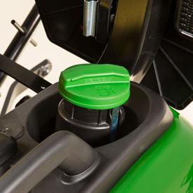 Réservoir de carburant à l'arrière du tracteur