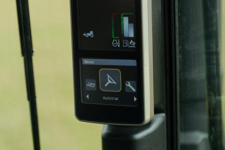 AutoTrac™ sur l'affichage du tracteur
