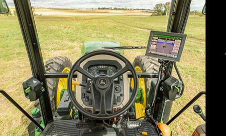 Affichage de 4egénération dans la cabine du tracteur