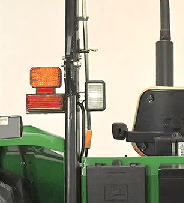 Projecteur de travail supplémentaire pour cadre de sécurité monté à l'arrière - côté gauche illustré