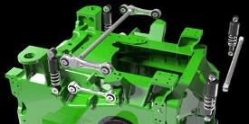 Système de suspension de cabine aux quatre coins