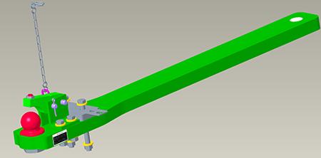 Kit de barre d'attelage à rotule pour tracteurs 9R
