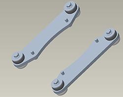 Support de montage pour roues et quatre chenilles