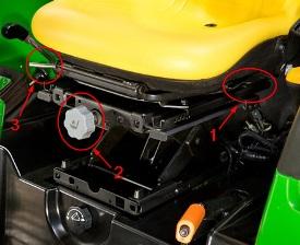 Siège à suspension de type ciseaux réglable