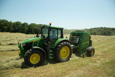 Tracteur6120M équipé de la gestion intelligente de la puissance