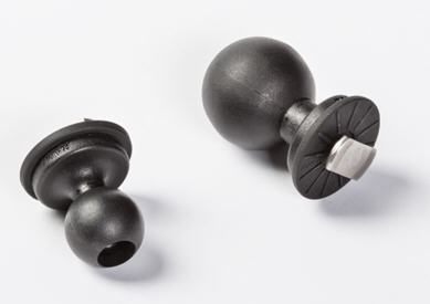BRE10482 Monture de boule avec fente en T de 25,4mm (1po) (à gauche) et BRE10483 Monture de boule avec fente en T de 38,1mm (1,5po)