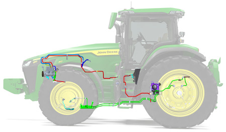 Tracteur8R avec CTIS de JohnDeere
