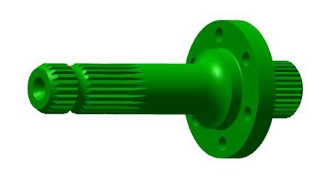 R313423 Arbre de prise de force arrière de 34,9mm (1,375po.), 1000tr/min