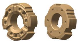 Masse de roueR341378 de 900kg (1984lb) (illustration des faces intérieure et extérieure)