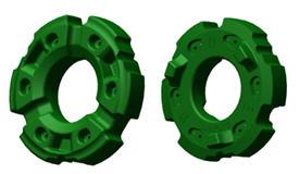 R563214 Masse de roues de 550 kg (1213lb) (faces intérieure et extérieure illustrées)