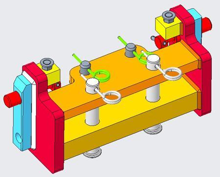 RE573011 Support de barre d'attelage (illustré avec les axes de catégorie3 et4)