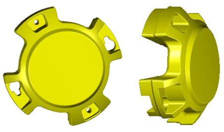 Masse de roue arrièreBM17965 de 28,1kg (62lb) (faces intérieure et extérieure illustrées)