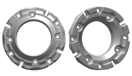 Masse de roue arrièreT19293 de 48,1kg (106lb) (faces intérieure et extérieure illustrées)