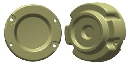Masse de roue arrière en fonteUC13499 de 32kg (70lb) (faces intérieure et extérieure illustrées)