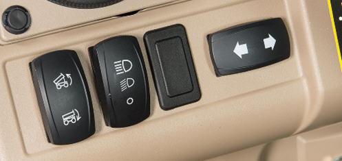 Interrupteur des feux de changement de direction (côté droit)