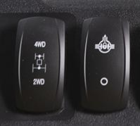Interrupteurs à bascule de différentiel et 4RM
