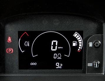 Tableau de bord et interrupteurs rétroéclairés