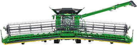 Vertikale Bewegung der Erntevorsatzflügel über 2.620mm